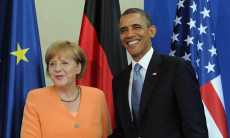 Chancellor Merkel and President Obama